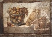 unknow artist Kristallschussel with fruits Wandschmuch out of the villa di Boscoreale china oil painting reproduction