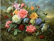 unknow artist Floral, beautiful classical still life of flowers.082 china oil painting reproduction