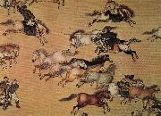 unknow artist Emperor Qianlong on the trip china oil painting reproduction
