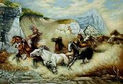 unknow artist Horses 048 china oil painting reproduction