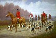 unknow artist Classical hunting fox, Equestrian and Beautiful Horses, 176. china oil painting reproduction