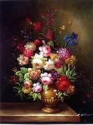 unknow artist Floral, beautiful classical still life of flowers.046 china oil painting reproduction