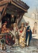unknow artist Arab or Arabic people and life. Orientalism oil paintings 596 oil painting picture wholesale