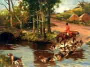 unknow artist Classical hunting fox, Equestrian and Beautiful Horses, 029. china oil painting reproduction