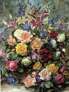 unknow artist Floral, beautiful classical still life of flowers.083 china oil painting reproduction