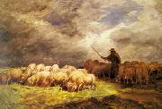 unknow artist Sheep 090 china oil painting reproduction