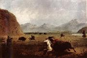 Alfred Jacob Miller Buffalo Hunt china oil painting reproduction