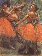 Edgar Degas Dancer in the red china oil painting reproduction