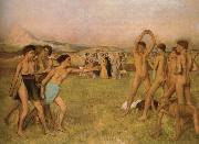 Edgar Degas Young Spartans Exercising china oil painting reproduction