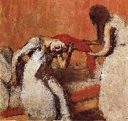 Edgar Degas Two lady dressing up hair china oil painting reproduction
