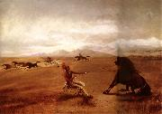 George Catlin Catching wild horses china oil painting reproduction