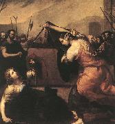 Jusepe de Ribera The Duel of Isabella de Carazzi and Diambra de Pottinella china oil painting reproduction