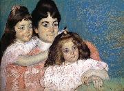 Mary Cassatt The Lady and her two daughter china oil painting reproduction