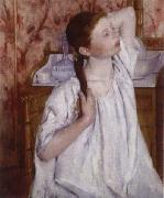 Mary Cassatt The girl do up her hair china oil painting reproduction