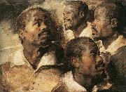 Peter Paul Rubens Four Studies of the Head of a Negro china oil painting reproduction