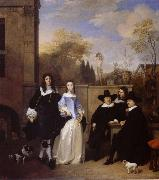 REMBRANDT Harmenszoon van Rijn Portrait of a family in a Garden china oil painting reproduction