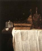 Sebastian Stoskopff Still-Life with Glasses and Bottles china oil painting reproduction