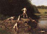 Thomas Eakins Swimming china oil painting reproduction