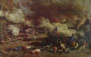 unknow artist Da the avslojades ,att king had consort with France enemies charge a rebellion crowd the 10 august Tuilerierna china oil painting reproduction