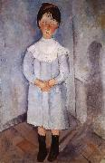 Amedeo Modigliani Little girl in blue china oil painting reproduction