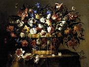 Arellano, Juan de Basket of Flowers c oil