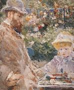 Berthe Morisot Detail of Manet and his daughter china oil painting reproduction