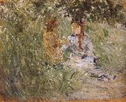 Berthe Morisot Mother and her son in the garden china oil painting reproduction