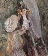 Berthe Morisot Detail of peach trees china oil painting reproduction