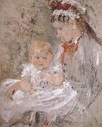 Berthe Morisot Juliy and biddy china oil painting reproduction