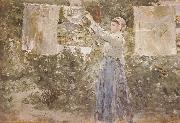 Berthe Morisot The woman Air dress china oil painting reproduction
