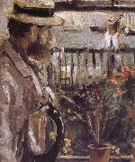 Berthe Morisot Detail of  The man at the Huaiter Island china oil painting reproduction