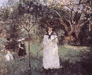 Berthe Morisot Catching the butterfly china oil painting reproduction
