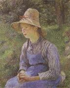 Camille Pissarro Young Peasant Girl Wearing a Hat china oil painting reproduction