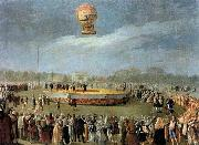 Carnicero, Antonio Ascent of the Balloon in the Presence of Charles IV and his Court china oil painting reproduction