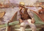 Christian Krohg Look ahead,the harbour at Bergen china oil painting reproduction