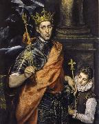 El Greco St Louis,King of France,with a Page china oil painting reproduction