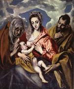 El Greco The Holy Family iwth St Anne china oil painting reproduction