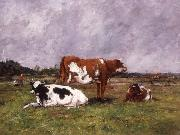 Eugene Boudin Cows in a Pasture china oil painting reproduction