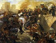 Eugene Delacroix The Battle of Taillebourg china oil painting reproduction