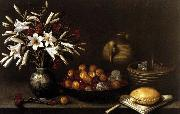 Francisco Barrera Still-Life with Flowers and Fruit china oil painting reproduction
