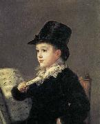 Francisco Jose de Goya Portrait of Mariano Goya, the Artist's Grandson china oil painting reproduction