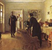 Ilya Repin They did Not Expect him china oil painting reproduction