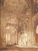 J.M.W. Turner Interior of Salisbury Cathedral,looking towards the North Transept china oil painting reproduction
