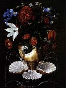 Juan de Espinosa Still-Life with Shell Fountain and Flowers china oil painting reproduction