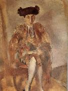 Jules Pascin Portrait of  FeleXidehabao wearing matador-s dress china oil painting reproduction
