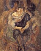 Jules Pascin Lucy wearing fur shawl china oil painting reproduction