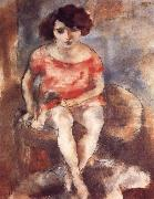 Jules Pascin The woman wearing the red garment china oil painting reproduction