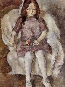 Jules Pascin The Girl holding flower china oil painting reproduction