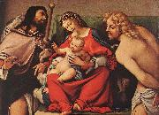 Lorenzo Lotto Madonna with the Child and Sts Rock and Sebastian china oil painting reproduction