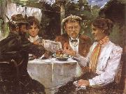 Lovis Corinth In Max Halbe-s Garden china oil painting reproduction